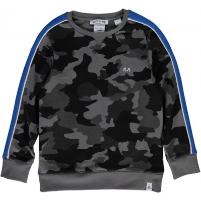 Nik & Nik Pedro Sweater Dark Camouflage