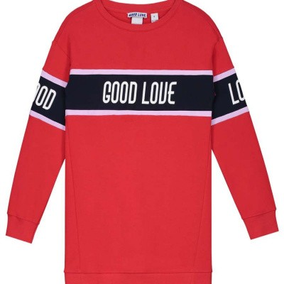 Nik & Nik girls Good love sweatdress Apple Red
