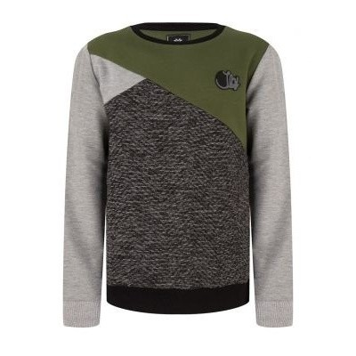 Foto van Indian blue jeans crewneck colorblock medium grey melange