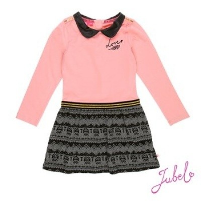 Jubel jurk black/pink