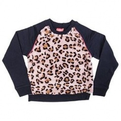 Foto van Little miss Juliette Leopard sweater NVY