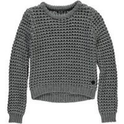 Foto van Levv girls Debora Knitted Sweater Mid Grey