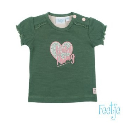Foto van Feetje Baby Girl T-Shirt Wild Thing Army