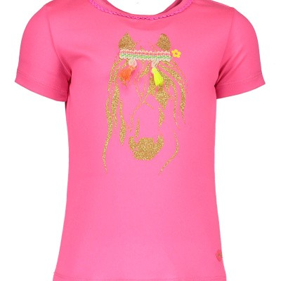 Kidz-art shirt pink horse