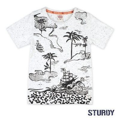 Foto van Sturdy T-shirt Islands -Treasure Hunter white