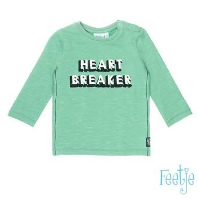 Foto van Feetje baby boy Longsleeve Heart Breaker Tuning Vibes Mint
