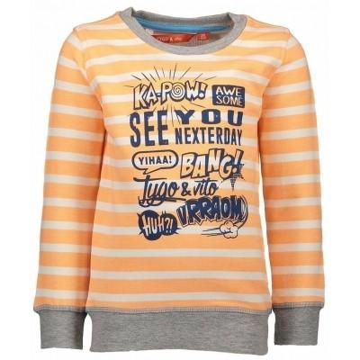 Foto van Tygo & Vito sweater orange stripe