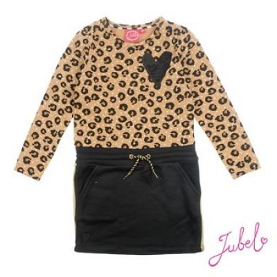 Foto van Jubel Jurk All over print Leopard - Lipstick Khaki