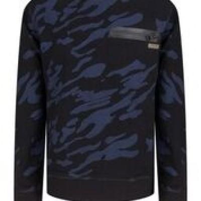 Indian blue jeans crewneck army black