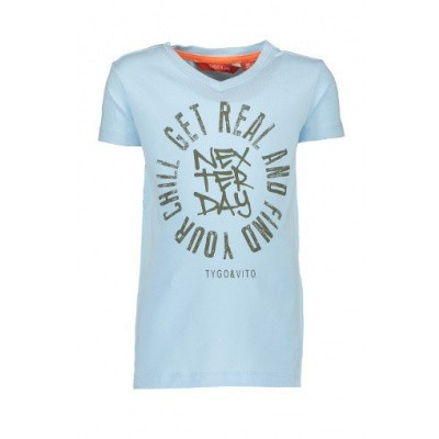 Foto van Tygo & Vtio boys T-shirt Get Real 105 Light Blue