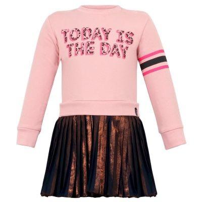 Foto van Beebielove baby girls Dress Plisse Pink