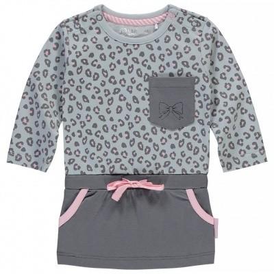 quapi newborn dress Zabrina light grey leopard
