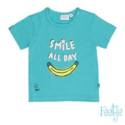 Feetje baby boys T-shirt korte mouw Smile Mr. Laidback Aqua