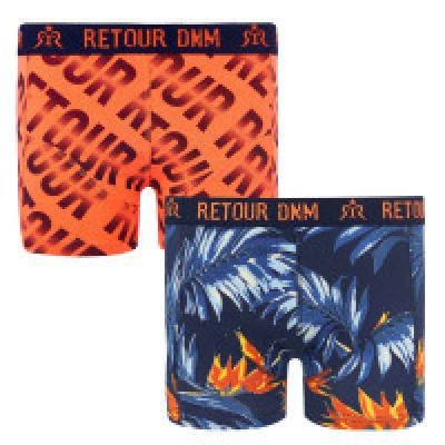 Foto van Retour boys shorts Winsor dark navy/orange