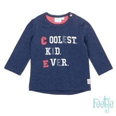 feetje baby boy long sleeve coolest kid navy