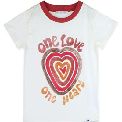 Foto van Ammehoela tee off white one heart