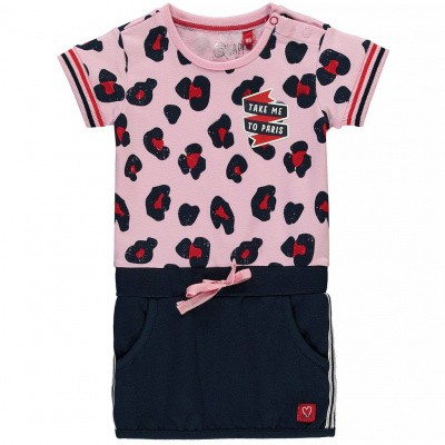 quapi baby girl dress Renise rose pink leopard