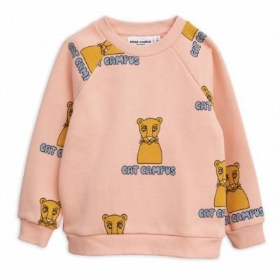 Mini Rodini sweater cat campus pink