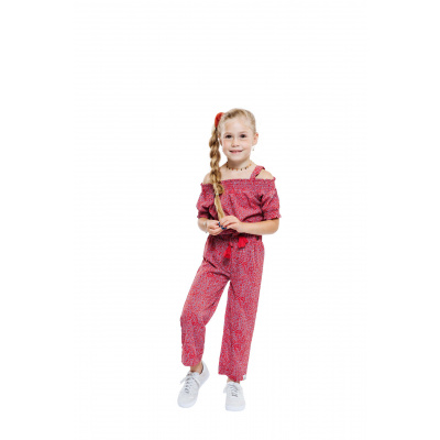Foto van Indian blue jeans jumpsuit Rose red