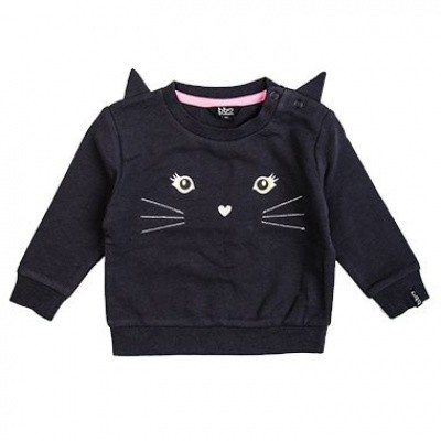 Foto van Beebielove baby girls Sweater Cat ANT