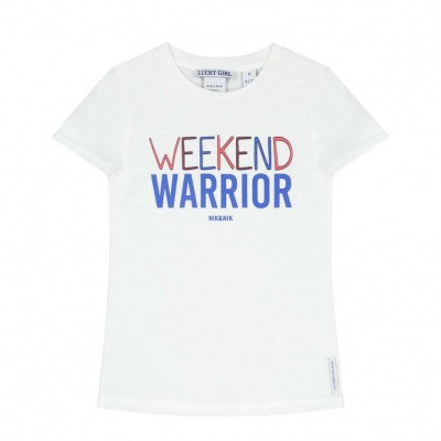 Nik & Nik girls Warrior T-shirt Off White