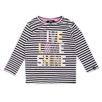Beebielove baby girls Longsleeve life love shine STR
