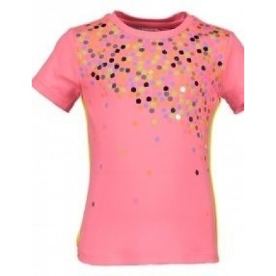 Foto van Kidz-art shirt confetti coral pink
