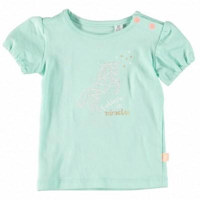 Foto van Little Bampidano Baby girls T-shirt fancy ss plain mint