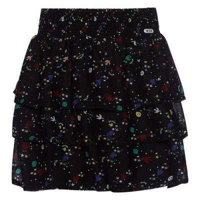 Retour denim skirt Yelka black all over print