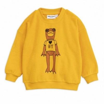 Foto van Mini Rodini Frog sp terry sweatshirt yellow