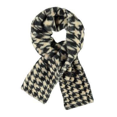 Flo sjaal fluffy Pied de poule grijs