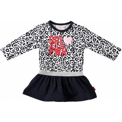 Foto van Bess newborn dress leopard dessin girlpower