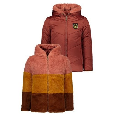 Like Flo meisjes winterjas 5211 rust reversibel