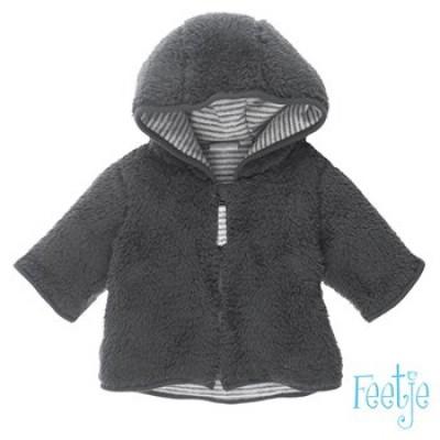 Foto van Feetje baby fluffy vest grey