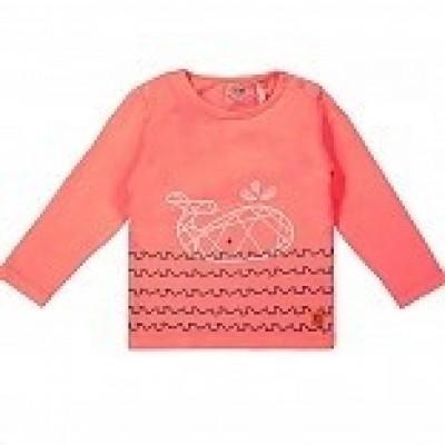 Foto van Little Bampidano Baby boys T-shirt l/s plain neon corel