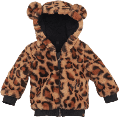 Foto van Z8 girls newborn Madrid jas All over print leopard Teddy