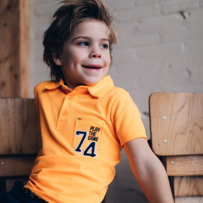 Foto van Quapi boys polo neon orange
