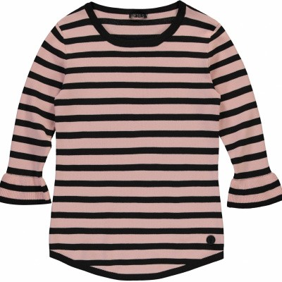 Foto van LEVV girls Blair longe sleeve Old pink stripe