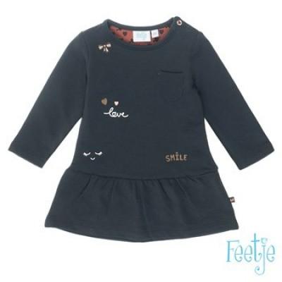 Foto van Feetje baby jurk antracite