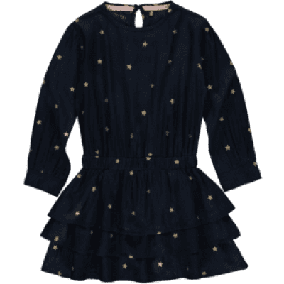 Quapi girls Dress Taiza Dark navy stars