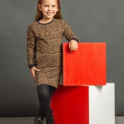 Quapi girls dress Leonie Leopard