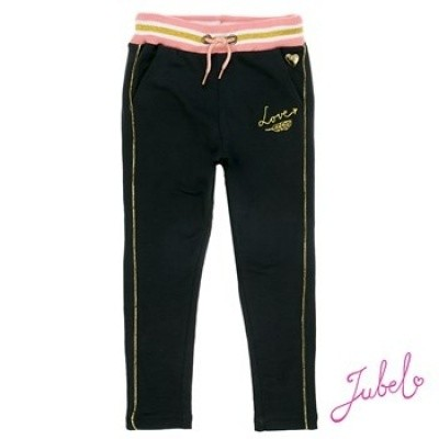 Jubel jogg broek black/pink/gold