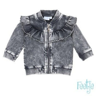 Foto van Feetje baby girl vest anthracite withe love