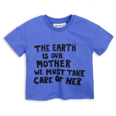 Foto van Mini Rodini mother earth shirt blauw
