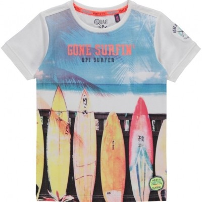 Quapi Boys T-shirt Kaz White