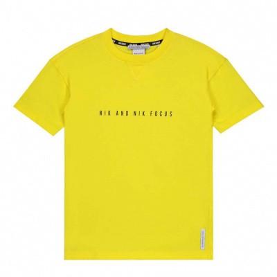 Nik & Nik boys Focus T-shirt Bright Yellow