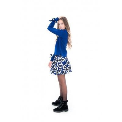 Frankie & Liberty Gabi Skirt Royal blue/Off white Animal print