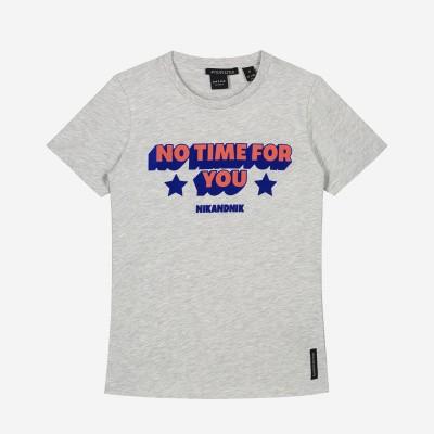 Foto van Nik & Nik Girls No Time T-Shirt Ultra Light Grey Melange