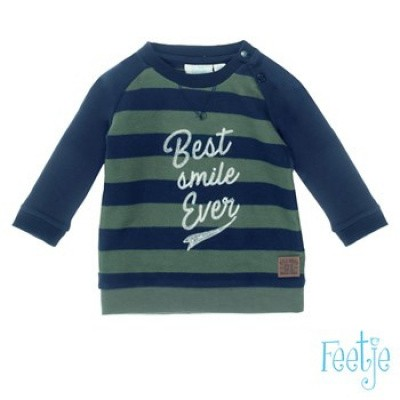 Feetje baby boy sweater army Best smile ever