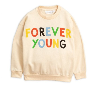Foto van Mini Rodini sweatshirt forever young off white